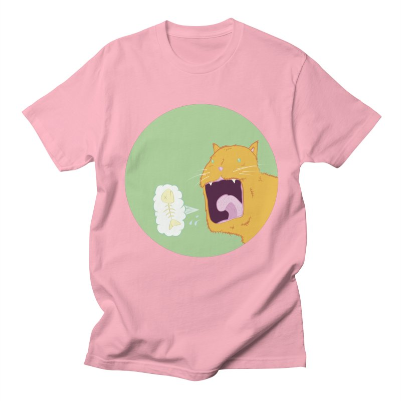 Cat Breath Men's Regular T-Shirt by Bahrnone's Artist Shop
