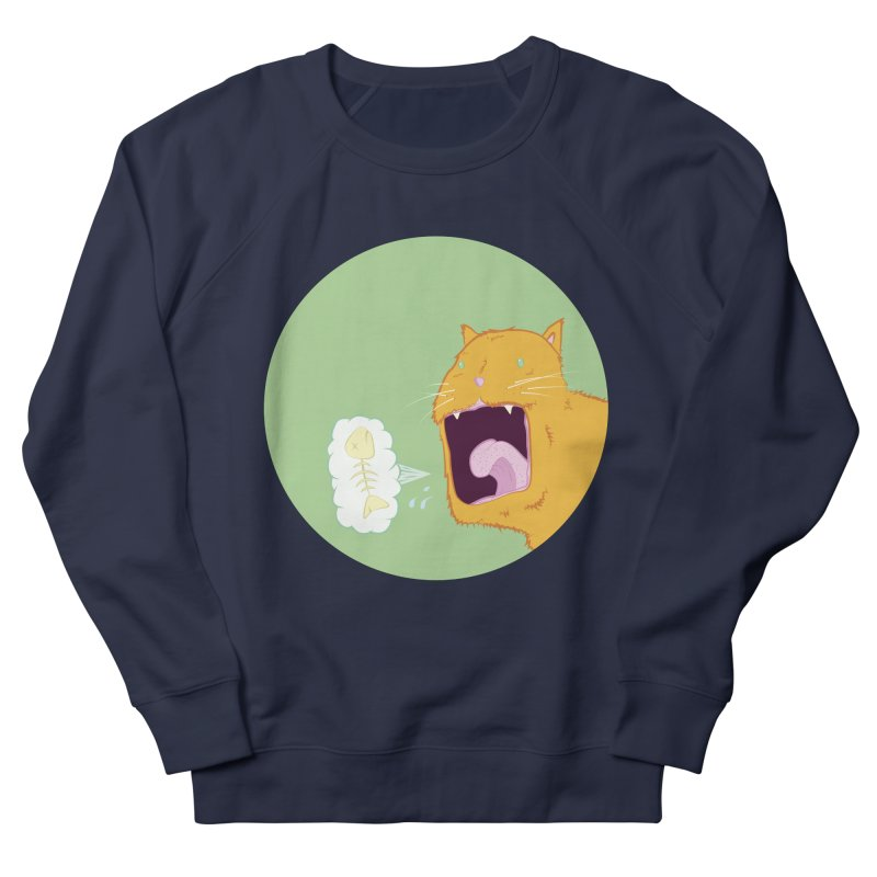 Cat Breath Men's French Terry Sweatshirt by Bahrnone's Artist Shop