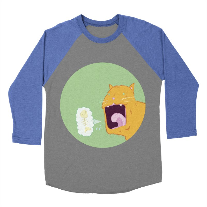 Cat Breath Men's Baseball Triblend Longsleeve T-Shirt by Bahrnone's Artist Shop