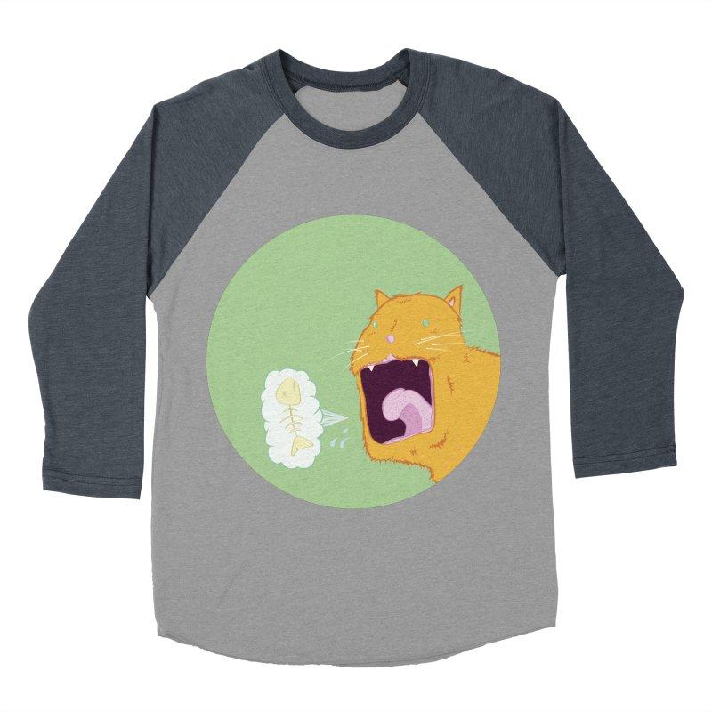 Cat Breath Men's Baseball Triblend T-Shirt by Bahrnone's Artist Shop