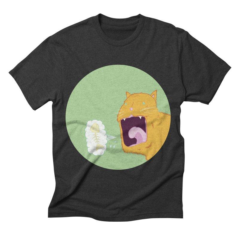 Cat Breath Men's Triblend T-shirt by Bahrnone's Artist Shop