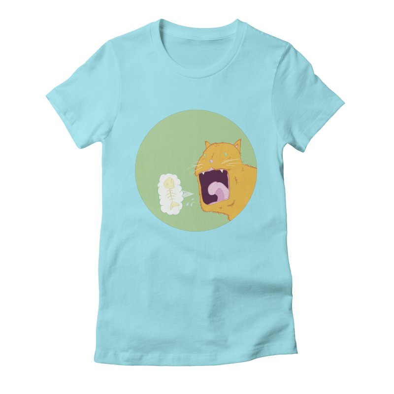 Cat Breath Women's Fitted T-Shirt by Bahrnone's Artist Shop
