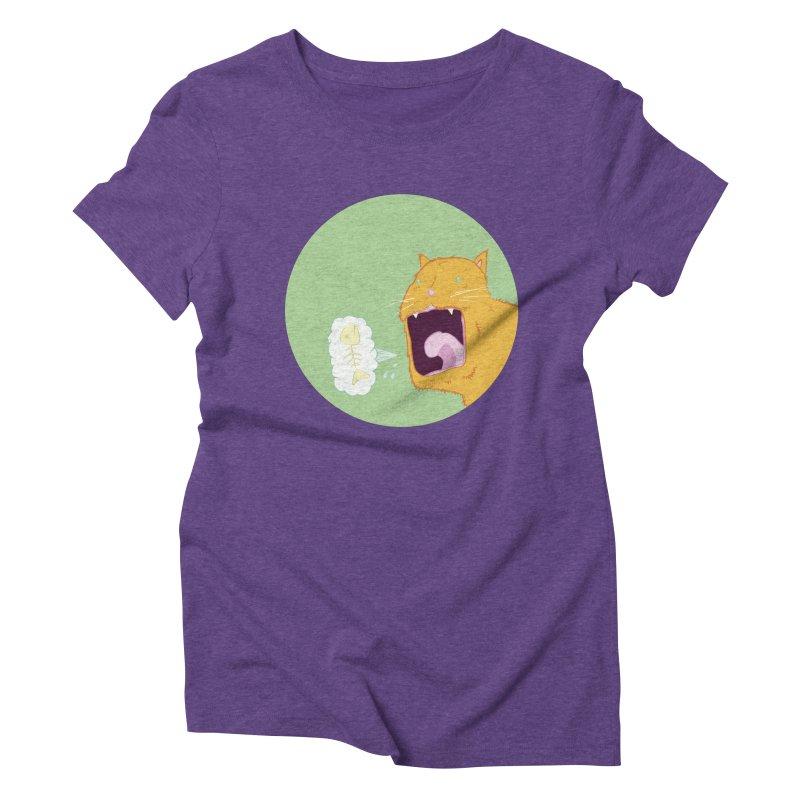Cat Breath Women's Triblend T-Shirt by Bahrnone's Artist Shop