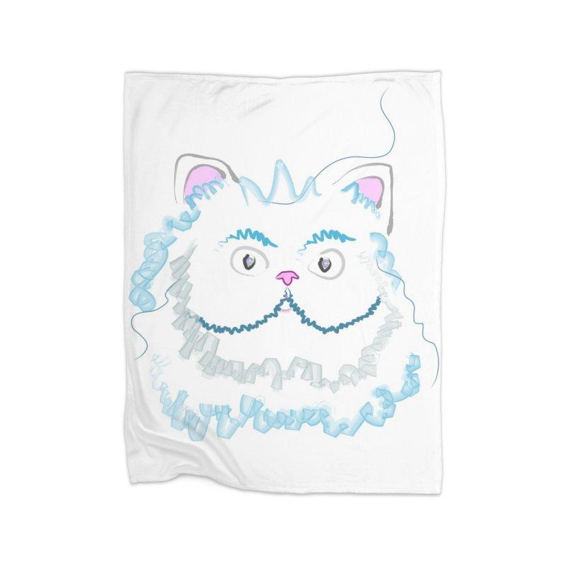 Cat is my BF Home Fleece Blanket Blanket by BalanLevin's Artist Shop