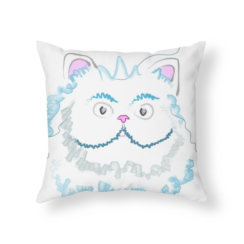 Cat is my BF Home Throw Pillow by BalanLevin's Artist Shop