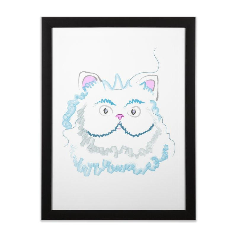 Cat is my BF Home Framed Fine Art Print by BalanLevin's Artist Shop