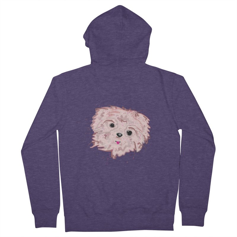 shih tzu Men's French Terry Zip-Up Hoody by BalanLevin's Artist Shop