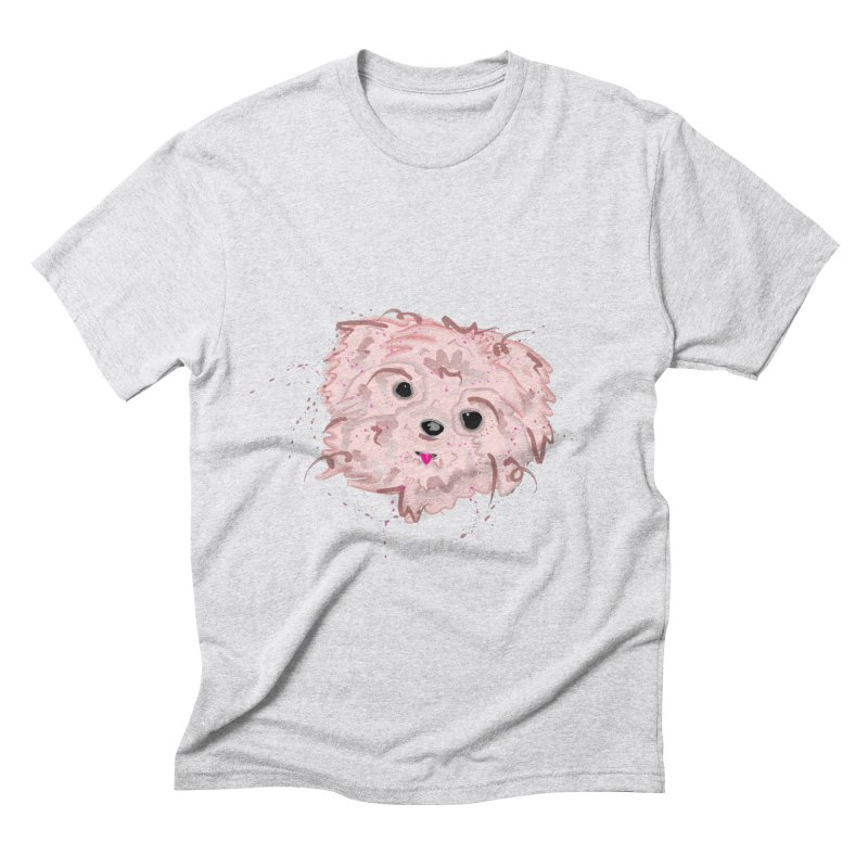 shih tzu Men's Triblend T-Shirt by BalanLevin's Artist Shop