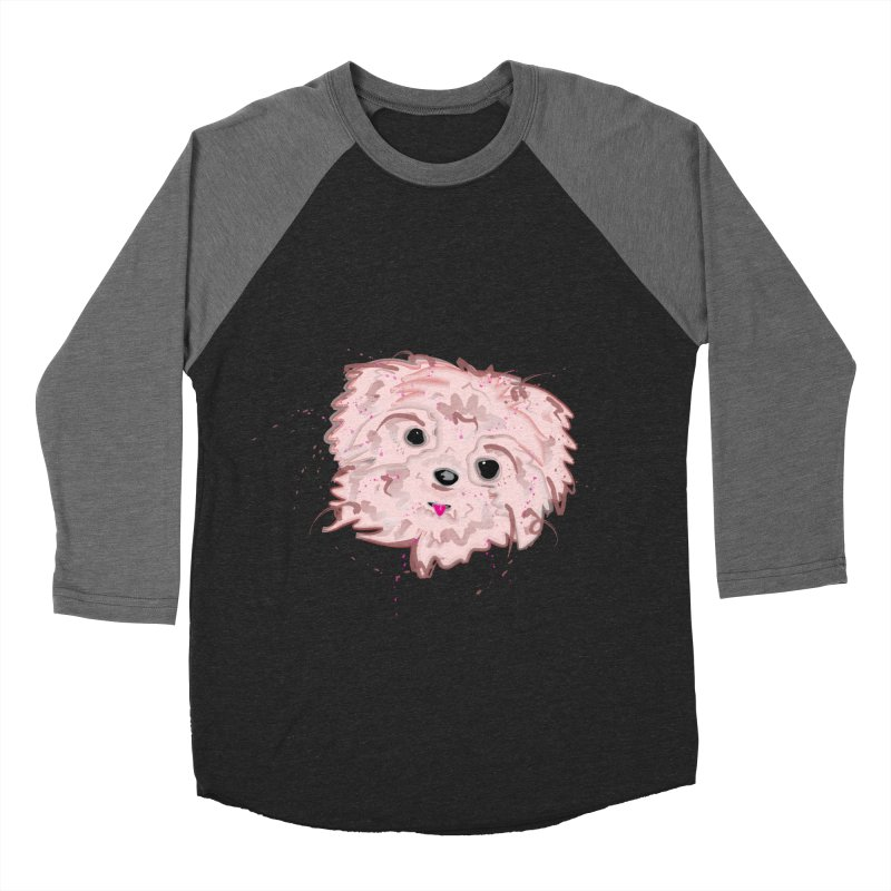 shih tzu Men's Baseball Triblend Longsleeve T-Shirt by BalanLevin's Artist Shop