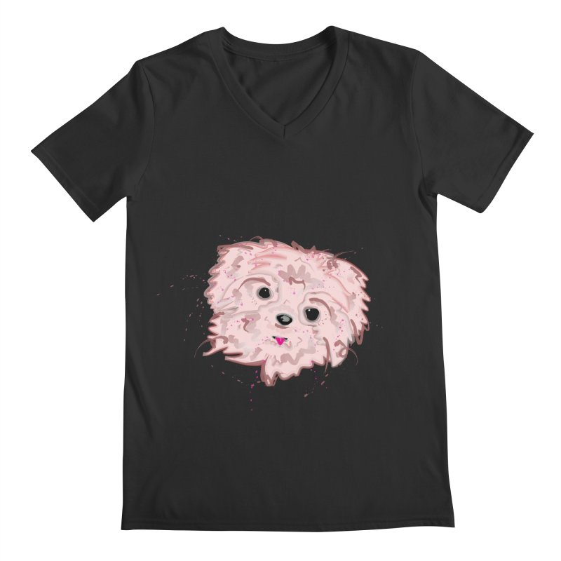 shih tzu Men's V-Neck by BalanLevin's Artist Shop