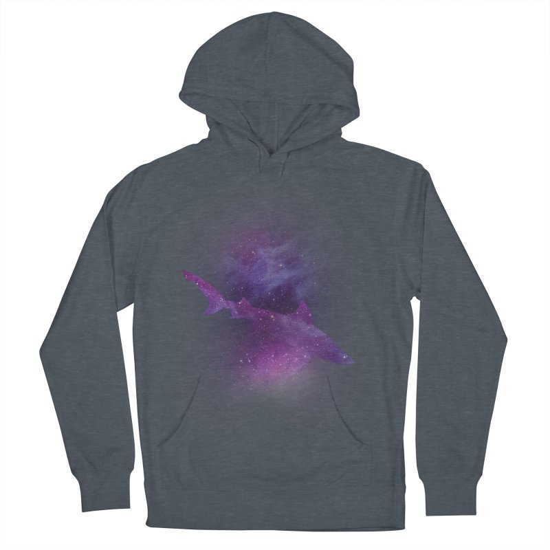 Galaxy Shark  Men's French Terry Pullover Hoody by BalanLevin's Artist Shop