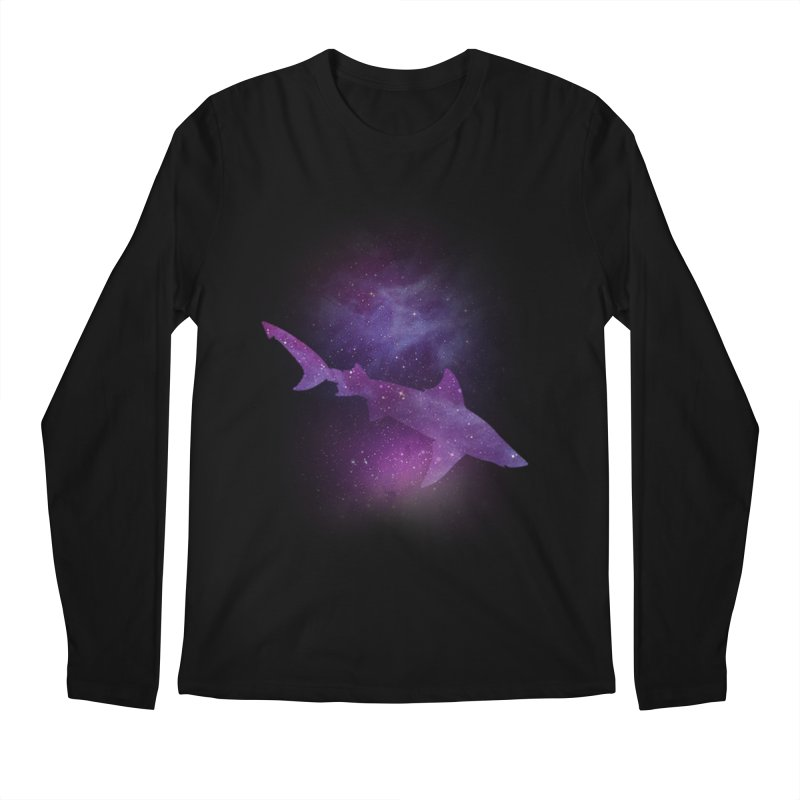 Galaxy Shark  Men's Longsleeve T-Shirt by BalanLevin's Artist Shop