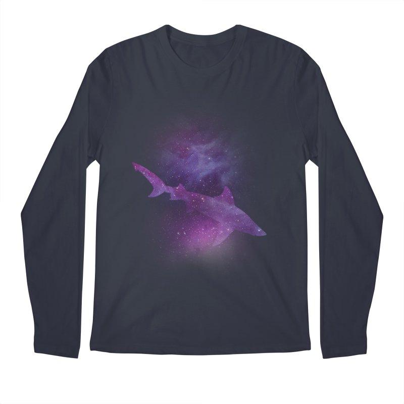Galaxy Shark  Men's Regular Longsleeve T-Shirt by BalanLevin's Artist Shop
