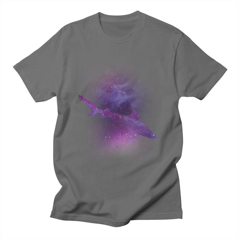 Galaxy Shark  Men's T-Shirt by BalanLevin's Artist Shop