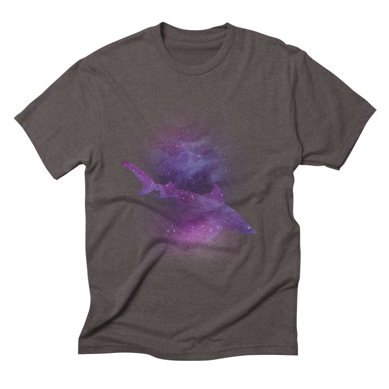 Galaxy Shark  Men's Triblend T-Shirt by BalanLevin's Artist Shop