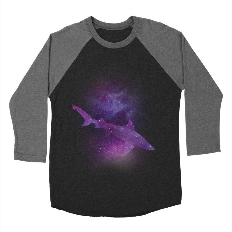 Galaxy Shark  Men's Baseball Triblend Longsleeve T-Shirt by BalanLevin's Artist Shop