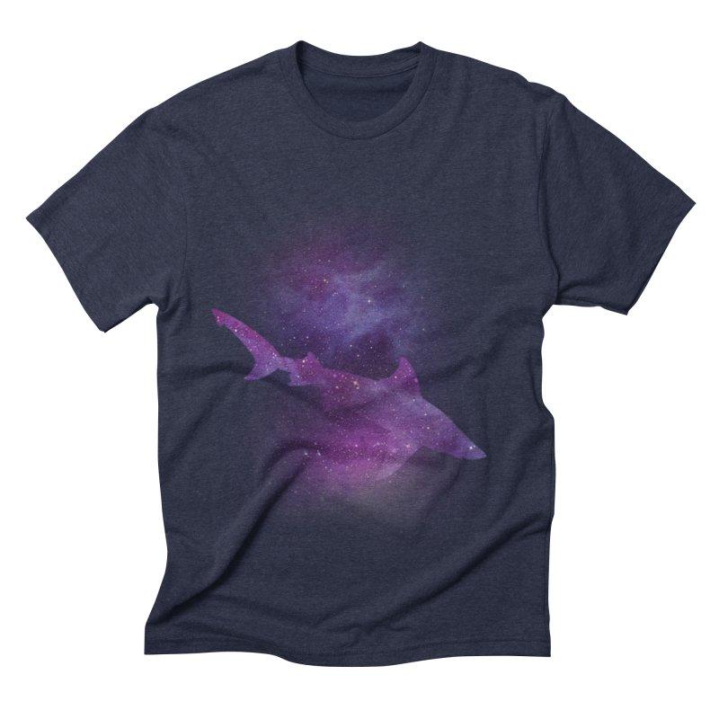 Galaxy Shark  Men's Triblend T-shirt by BalanLevin's Artist Shop