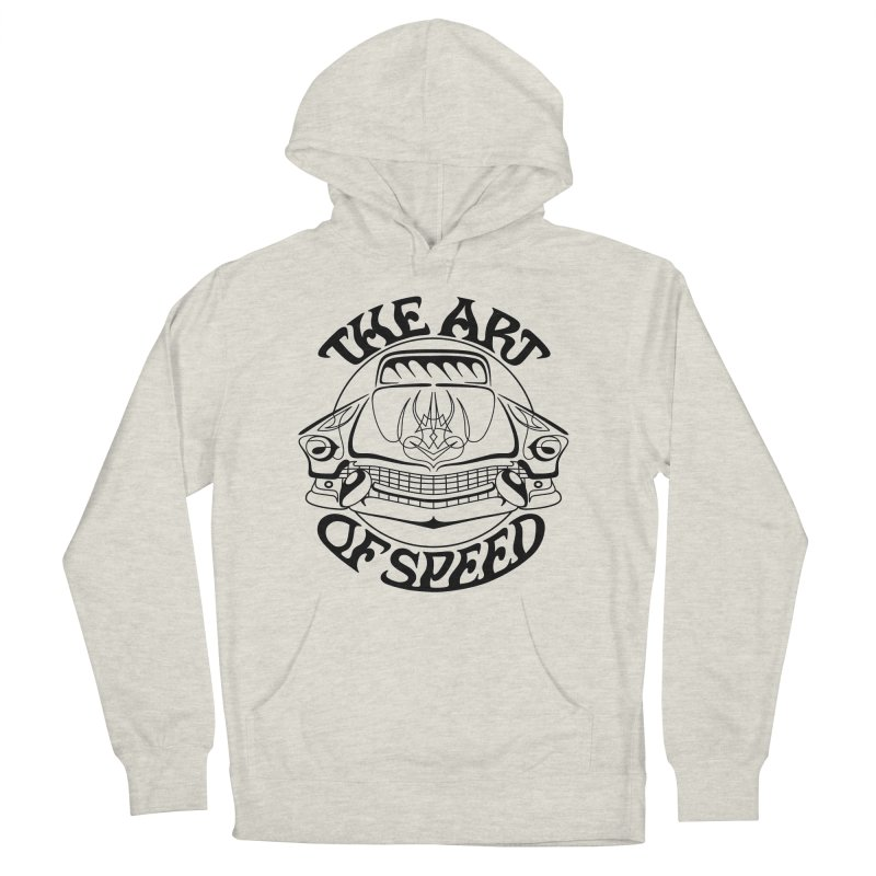 Art of Speed (black design) Men's French Terry Pullover Hoody by Bandit Pinstriping's Artist Shop