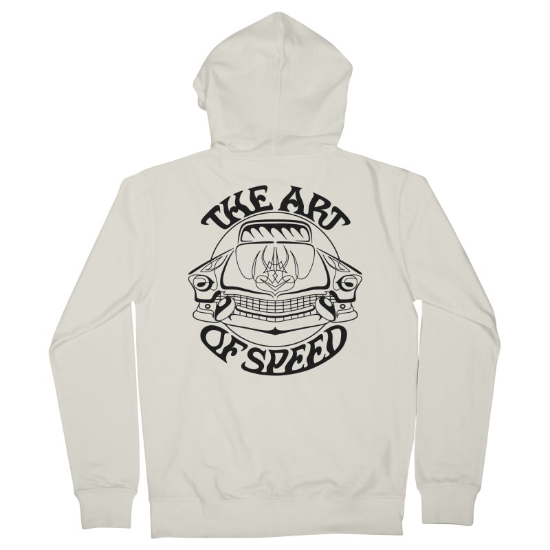 Art of Speed (black design) Men's French Terry Zip-Up Hoody by Bandit Pinstriping's Artist Shop