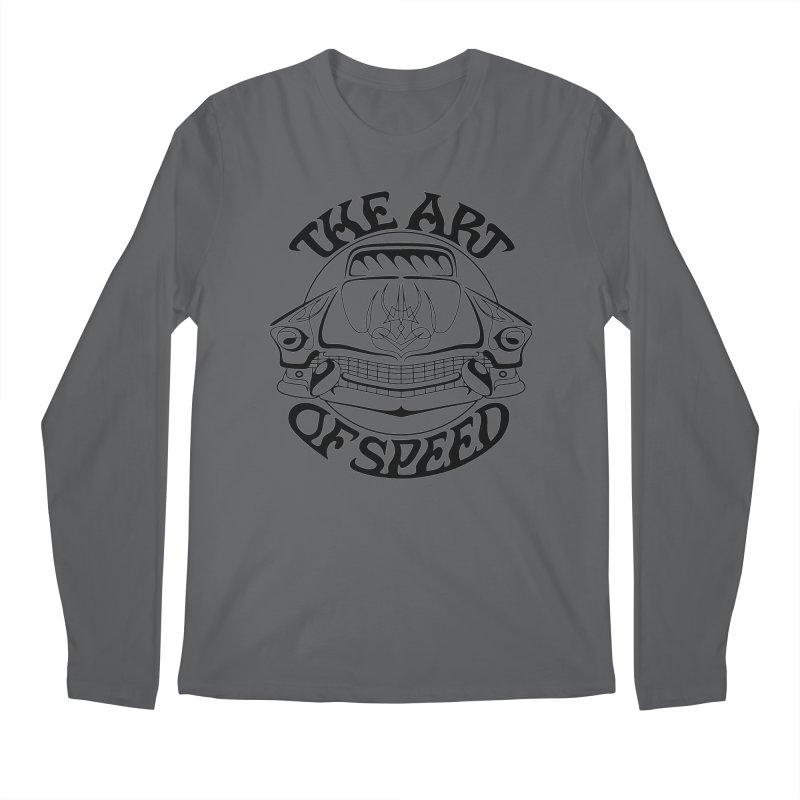 Art of Speed (black design) Men's Regular Longsleeve T-Shirt by Bandit Pinstriping's Artist Shop