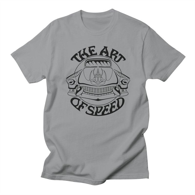 Art of Speed (black design) Men's Regular T-Shirt by Bandit Pinstriping's Artist Shop