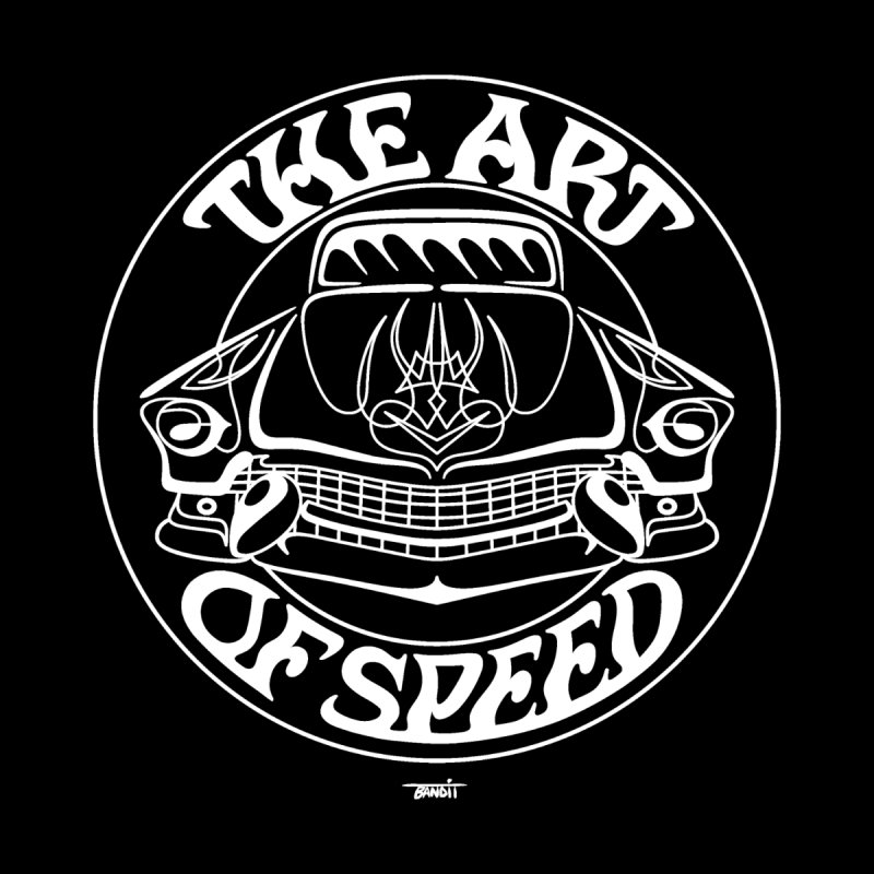 Art of Speed (white) Men's Zip-Up Hoody by Bandit Pinstriping's Artist Shop