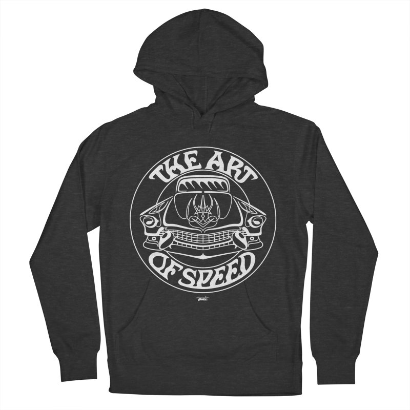 Art of Speed (white) Women's French Terry Pullover Hoody by Bandit Pinstriping's Artist Shop