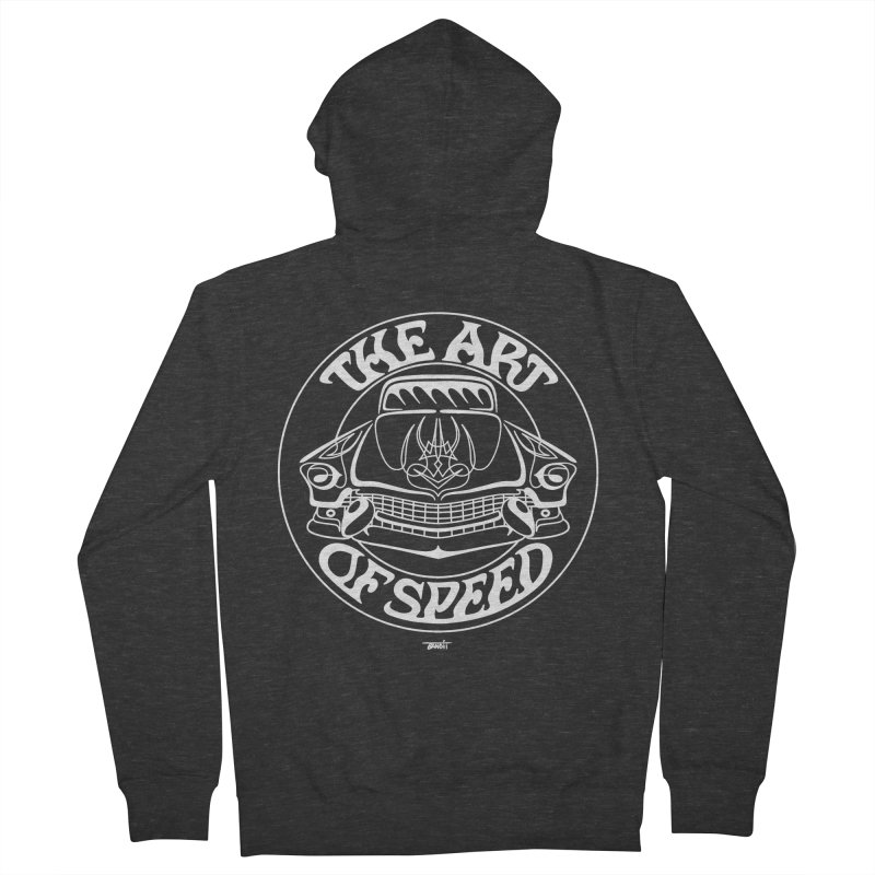 Art of Speed (white) Women's French Terry Zip-Up Hoody by Bandit Pinstriping's Artist Shop