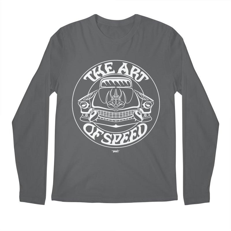 Art of Speed (white) Men's Regular Longsleeve T-Shirt by Bandit Pinstriping's Artist Shop