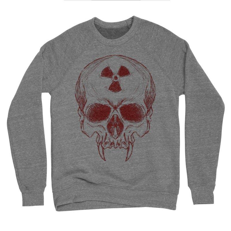 Night Shift Vampire Outline Dark Men's Sponge Fleece Sweatshirt by Bandit Bots