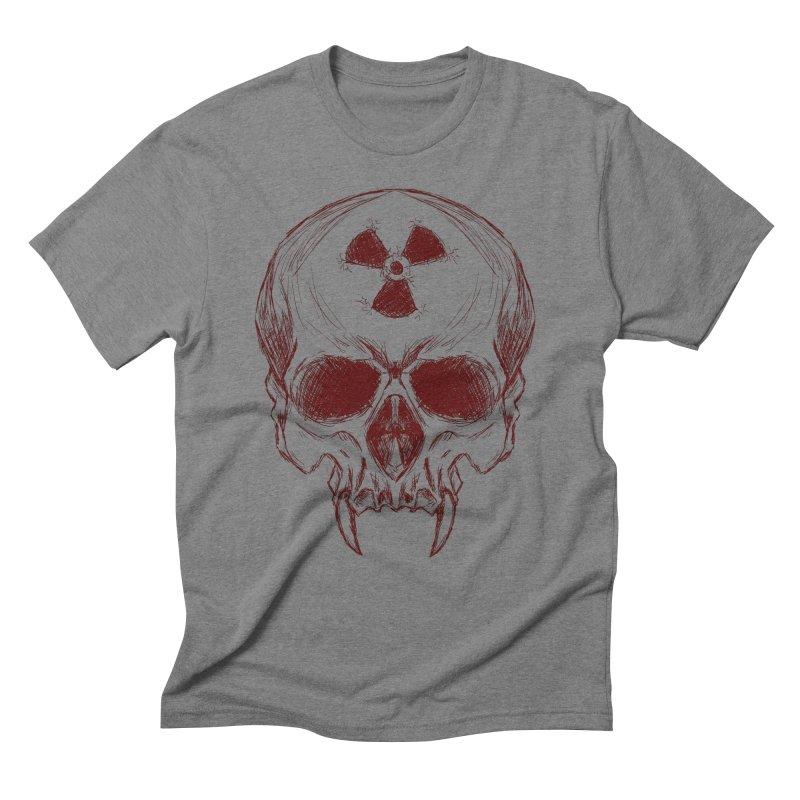 Night Shift Vampire Outline Dark Men's Triblend T-Shirt by Bandit Bots