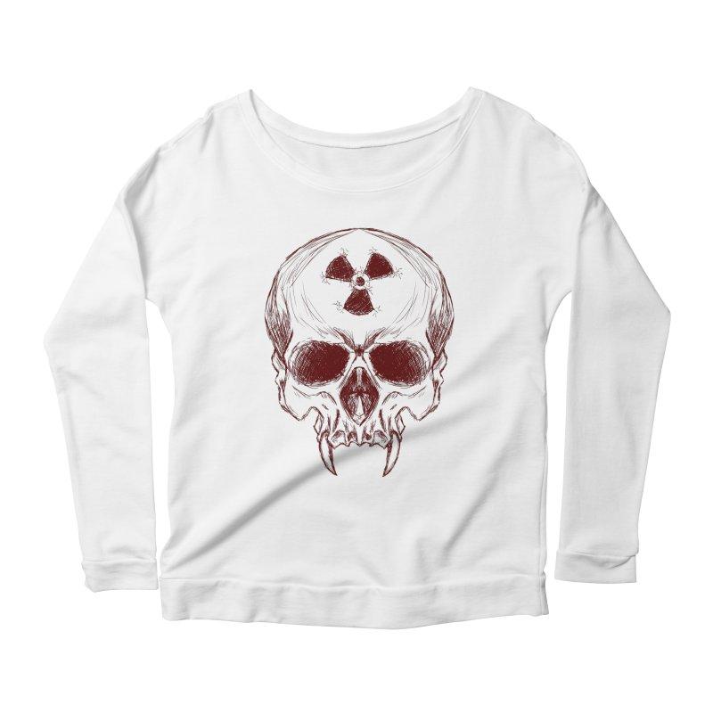 Night Shift Vampire Outline Dark Women's Scoop Neck Longsleeve T-Shirt by Bandit Bots