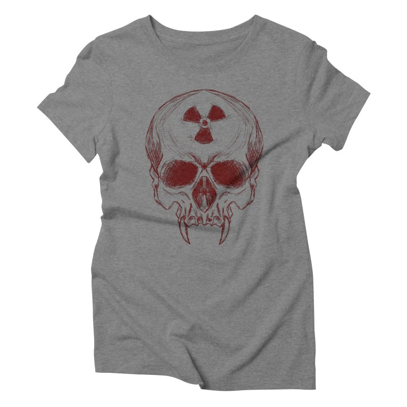 Night Shift Vampire Outline Dark Women's Triblend T-Shirt by Bandit Bots
