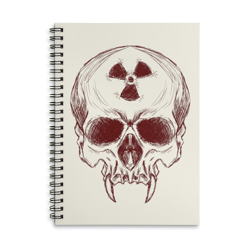 Night Shift Vampire Outline Dark Accessories Lined Spiral Notebook by Bandit Bots
