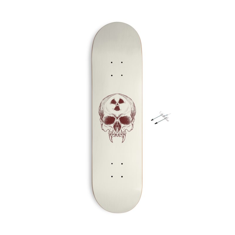 Night Shift Vampire Outline Dark Accessories With Hanging Hardware Skateboard by Bandit Bots