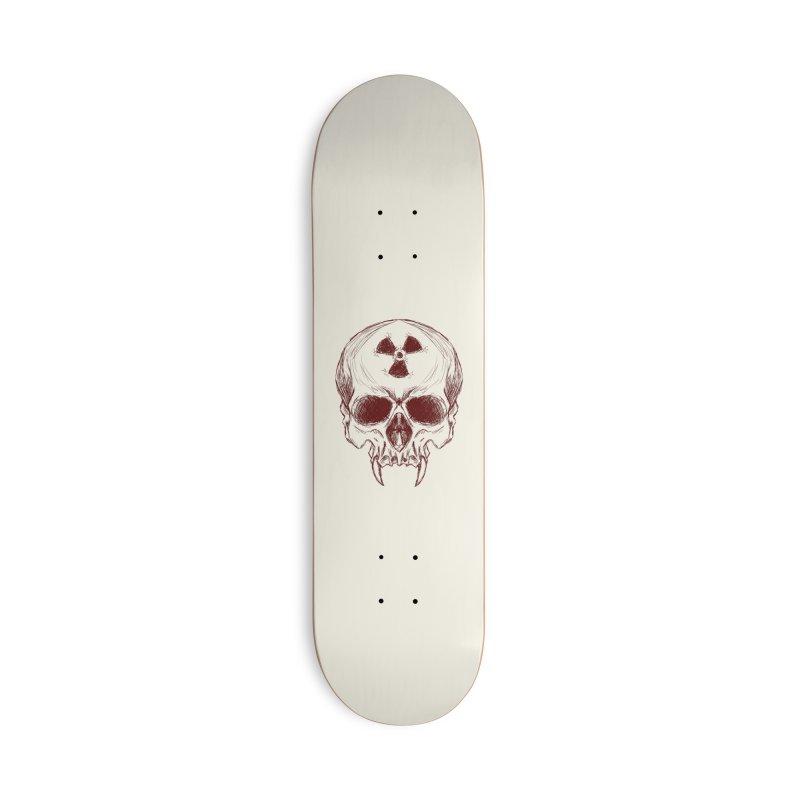 Night Shift Vampire Outline Dark Accessories Skateboard by Bandit Bots