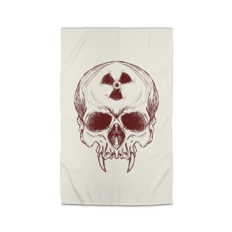 Night Shift Vampire Outline Dark Home Rug by Bandit Bots