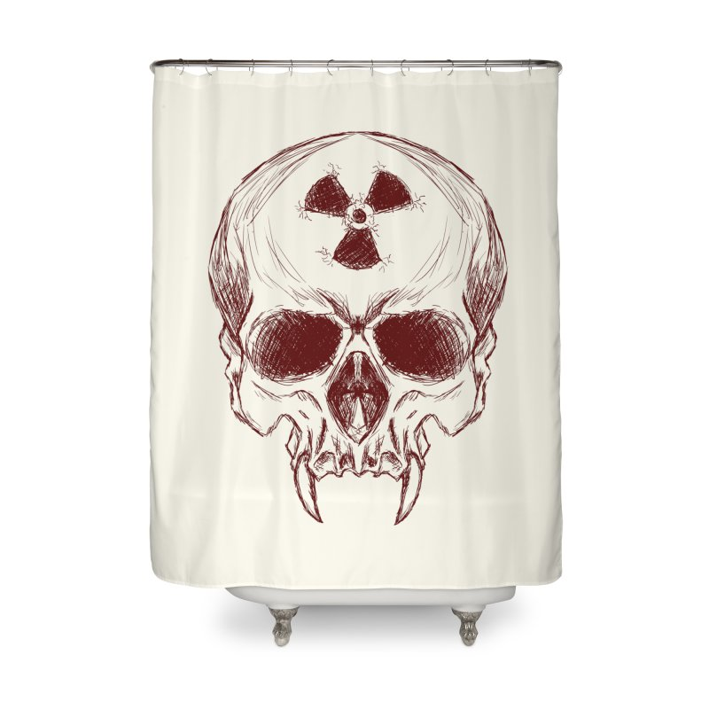 Night Shift Vampire Outline Dark Home Shower Curtain by Bandit Bots