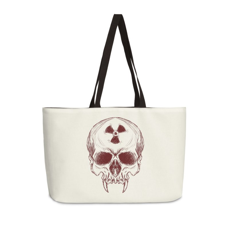Night Shift Vampire Outline Dark Accessories Weekender Bag Bag by Bandit Bots