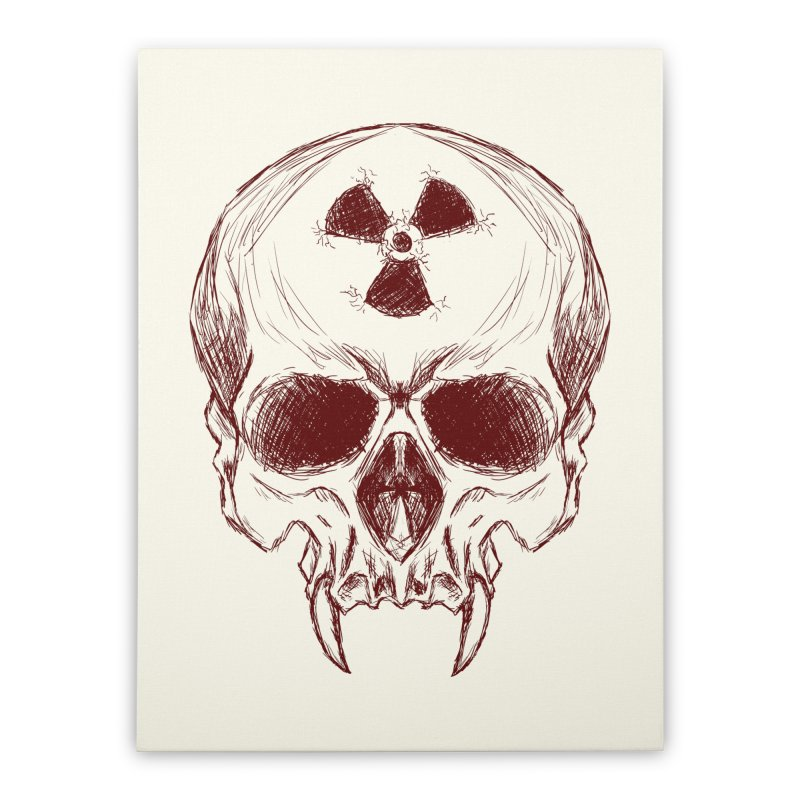 Night Shift Vampire Outline Dark Home Stretched Canvas by Bandit Bots