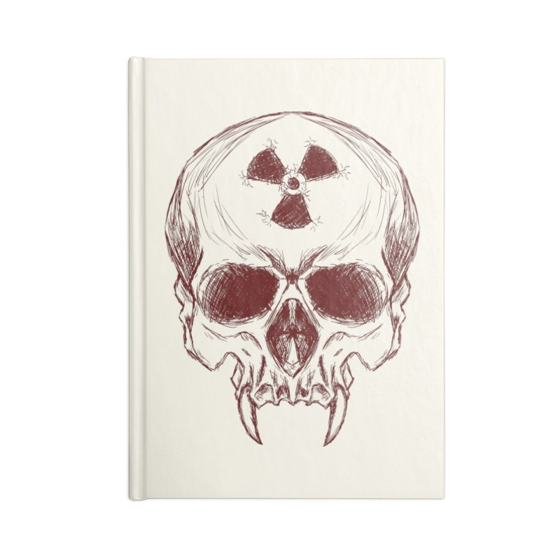Night Shift Vampire Outline Dark Accessories Notebook by Bandit Bots