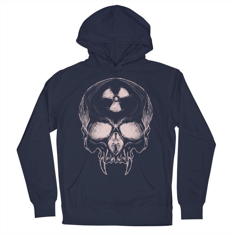 Night Shift Vampire Outline Light Men's French Terry Pullover Hoody by Bandit Bots