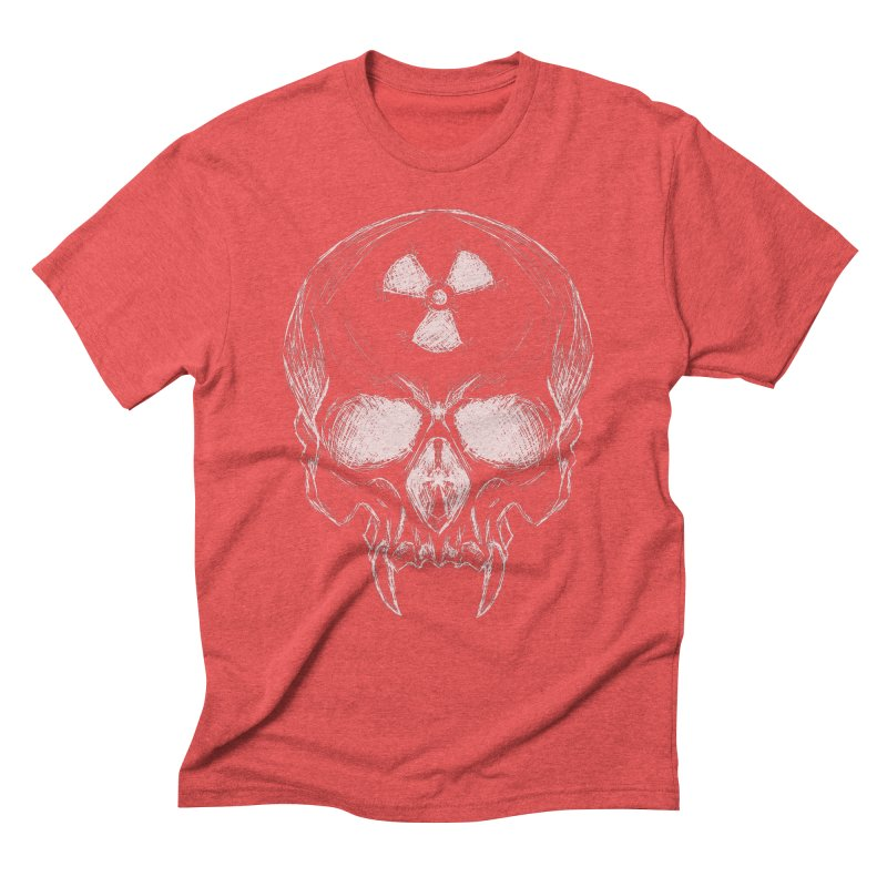 Night Shift Vampire Outline Light Men's Triblend T-Shirt by Bandit Bots
