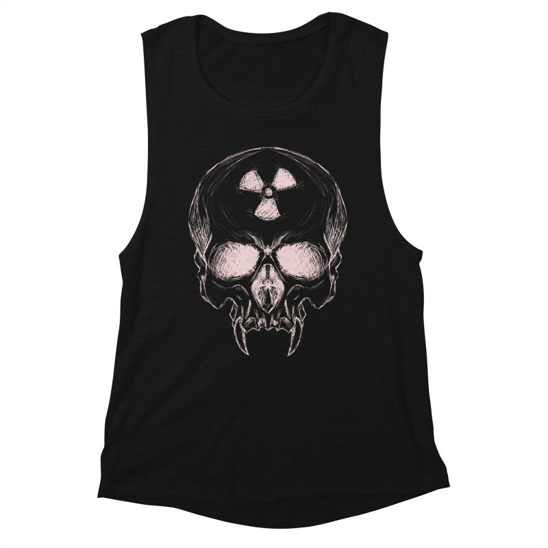 Night Shift Vampire Outline Light Women's Muscle Tank by Bandit Bots
