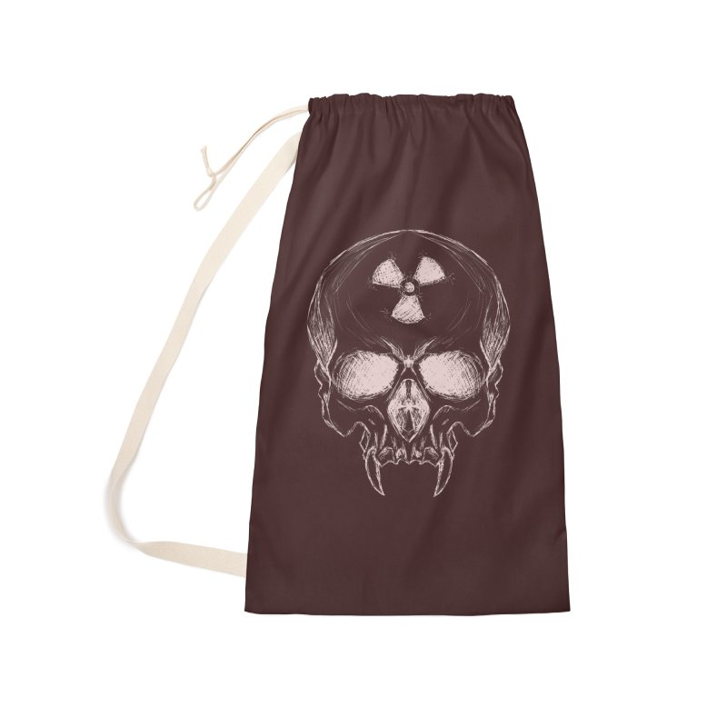 Night Shift Vampire Outline Light Accessories Laundry Bag Bag by Bandit Bots