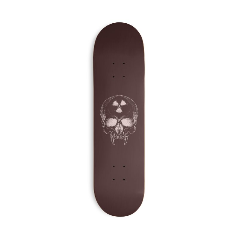 Night Shift Vampire Outline Light Accessories Deck Only Skateboard by Bandit Bots