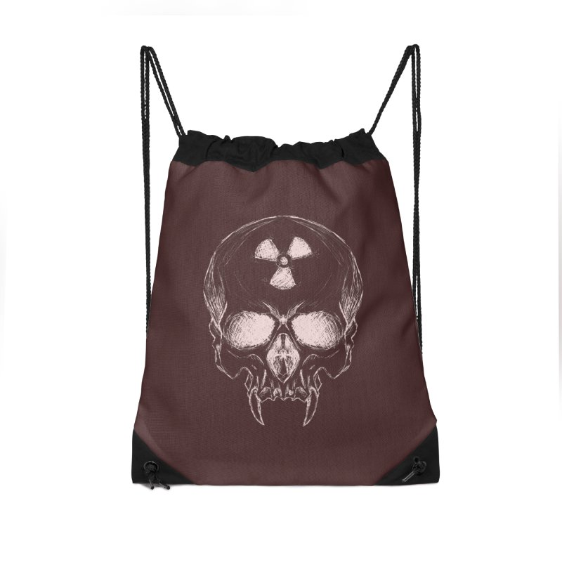 Night Shift Vampire Outline Light Accessories Drawstring Bag Bag by Bandit Bots