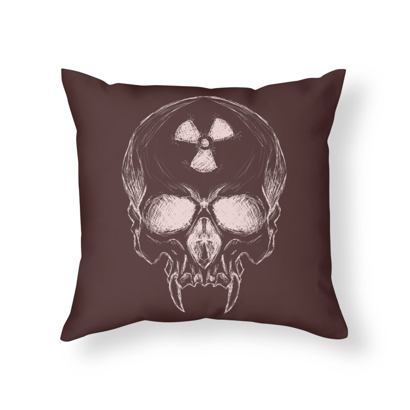 Night Shift Vampire Outline Light Home Throw Pillow by Bandit Bots