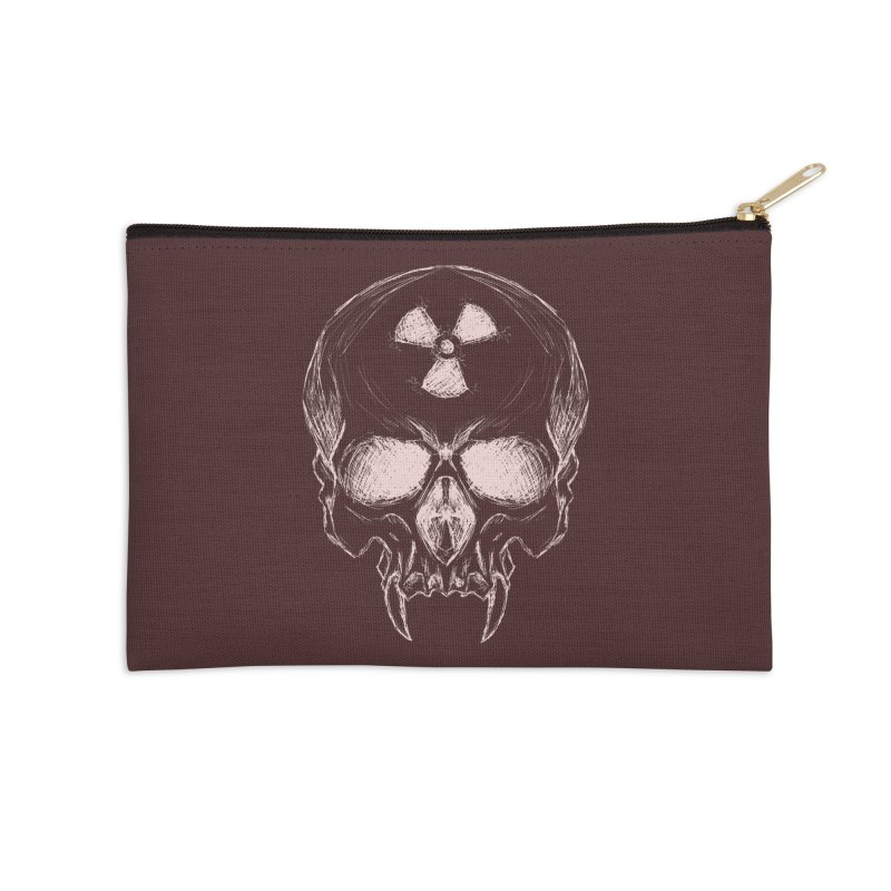 Night Shift Vampire Outline Light Accessories Zip Pouch by Bandit Bots