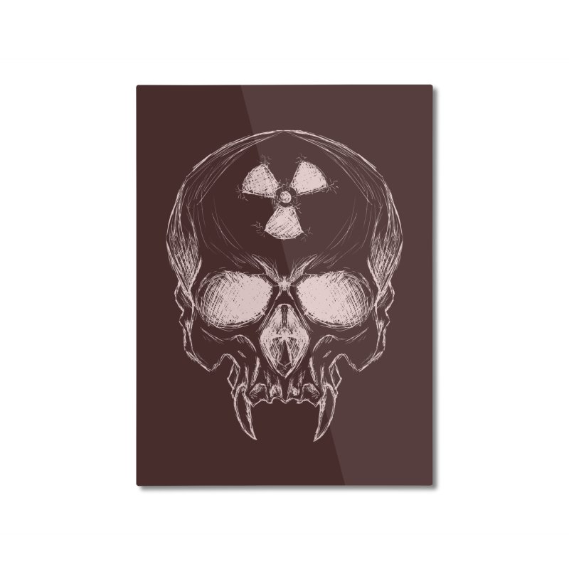 Night Shift Vampire Outline Light Home Mounted Aluminum Print by Bandit Bots